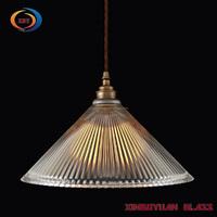 Pendant Light Ribbed Glass Ceiling Light Deco Chandelier Light