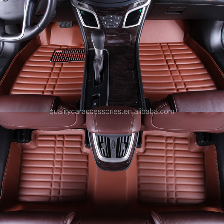brown the whole surrounded by leather car mats, car carpet, car mats leather car brown waterproof wear n