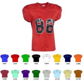 EISHA AFJ EE 8 Red Plain camisetas de Futebol Americano Personalizado 38d99732de029