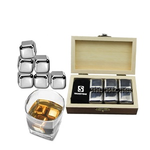 perfect gifts for men stainless steel whiskey cube with wooden box gift set from Shunstone China