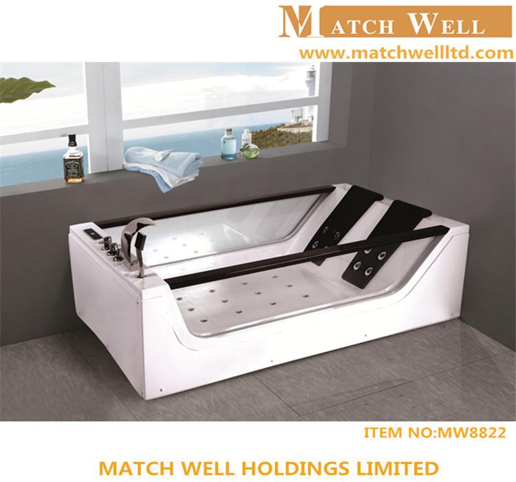 Massage Whirlpool Tempered Glass Side Acrylic Bathtub Price - Buy ...