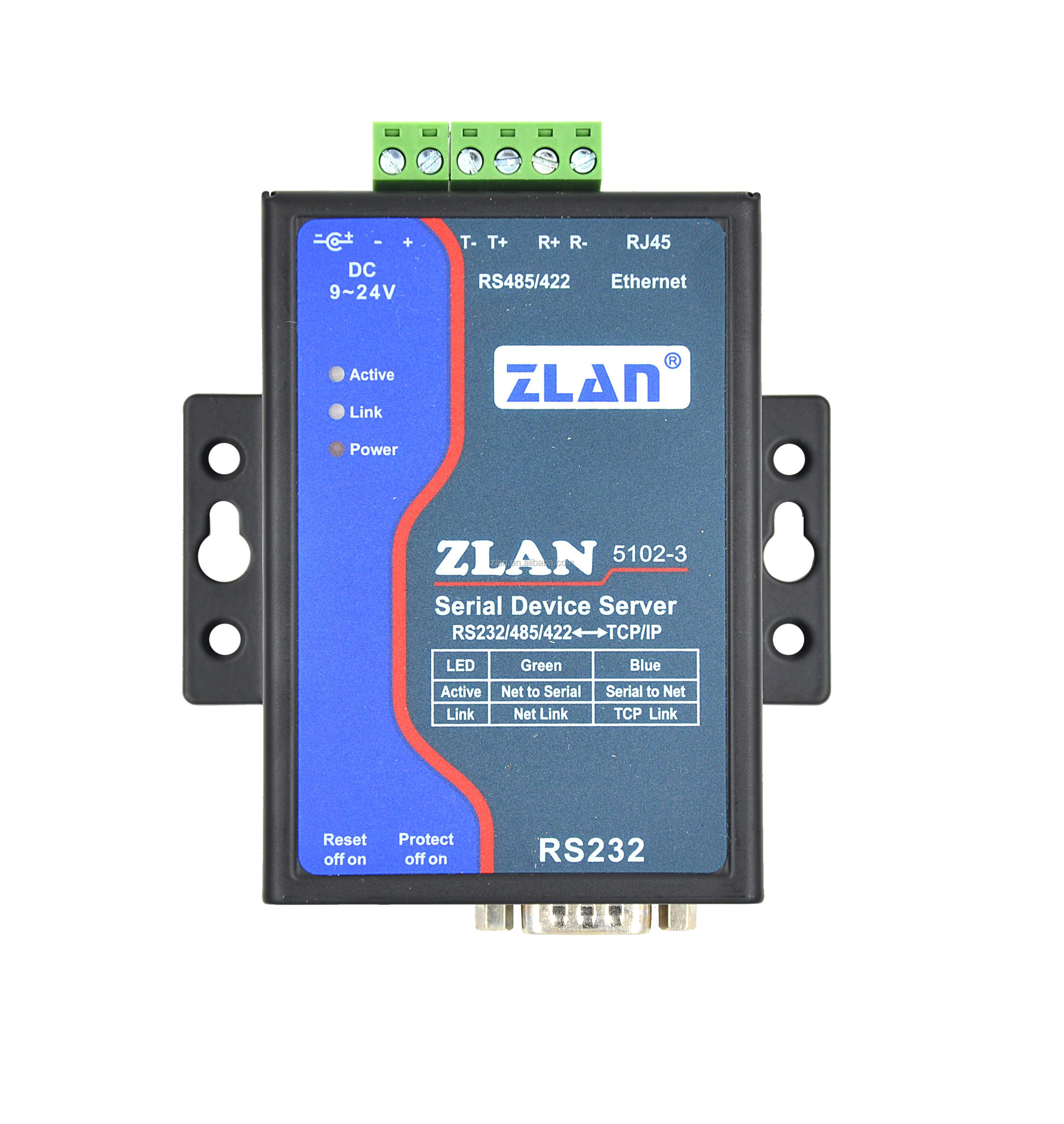 Zlan5102 3 Rs232 Rs485 Rs422 To Tcp Ip Lan 2 Wire Ethernet Converter Rs 485 2wire Diagram Industrial