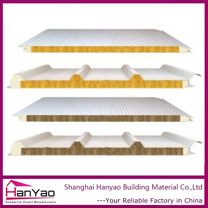 Soundproof Waterproof Fireproof Roof Building Materials Rockwool Concrete Wall/Roof Sandwich Panel