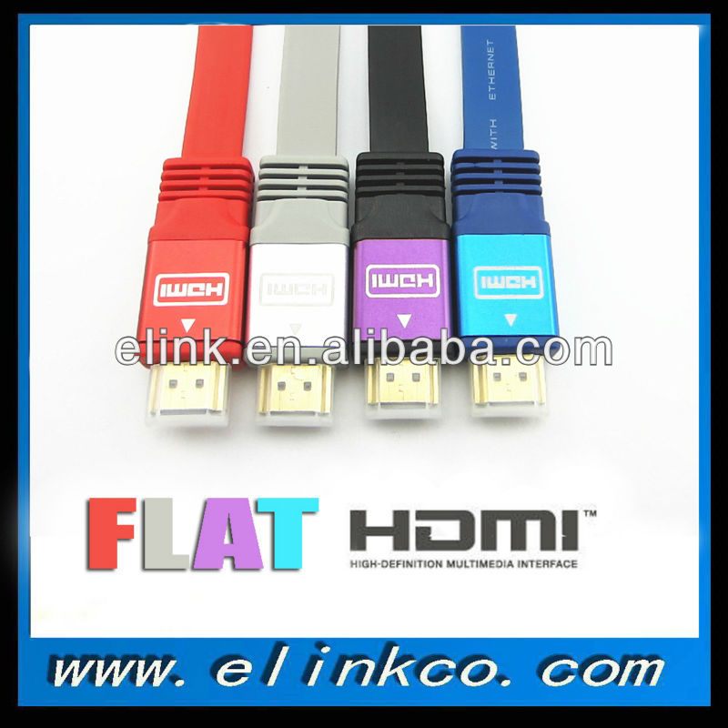 High Speed premium colorful flat hdmi cable for PS3 HDTV HDTV Xbox STB
