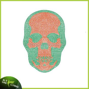rhinestone template material wholesale - wholesale skull rhinestone heat transfers templates design