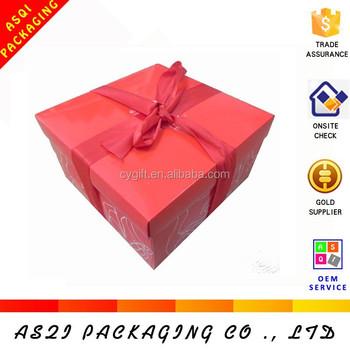 Factory Direct Price Red Wedding Paper Swiss Roll Cake Box Cheap