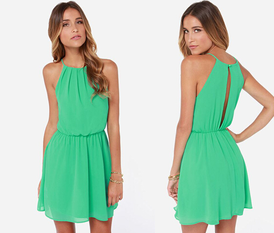 e4ca90e80eb Get Quotations · Latest Designs 2015 O Neck casual vestidos sexy mini Dress  fashion summer dress vestido solid sleeveless