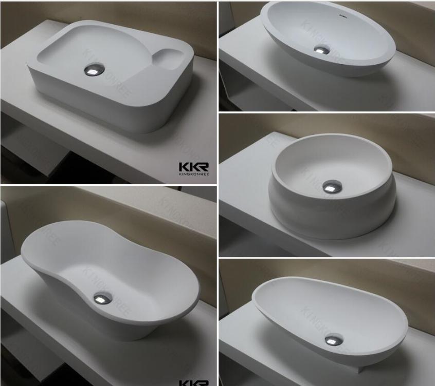 Kkr Solid Surface Bathroom Sink Resin Stone Wash Hand Basin On Alibaba