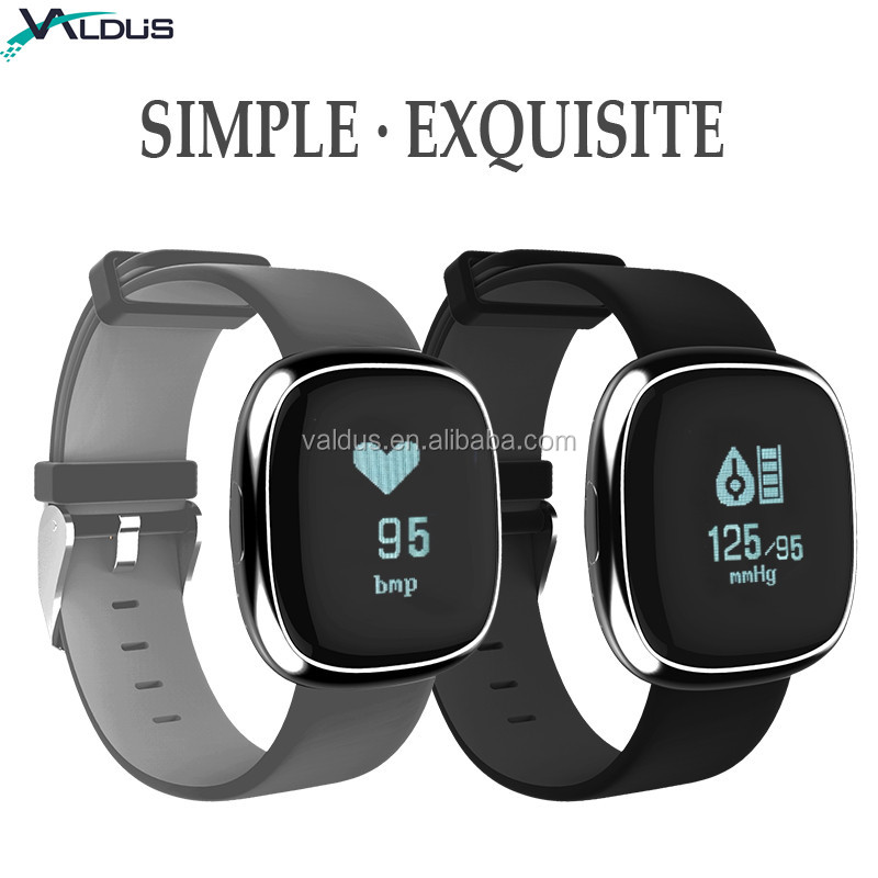2018 New product Arrival P2 blood pressure fit bit smart bracelet wristband pedometer