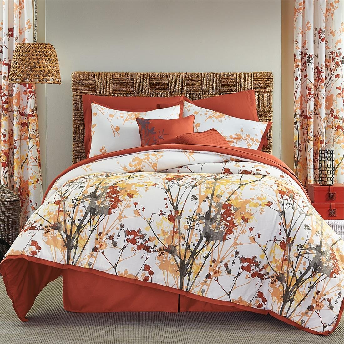 paisley chezmoi embroidery naomi set and kitchen collection home com queen amazon bedding floral comforter piece grey navy dp orange