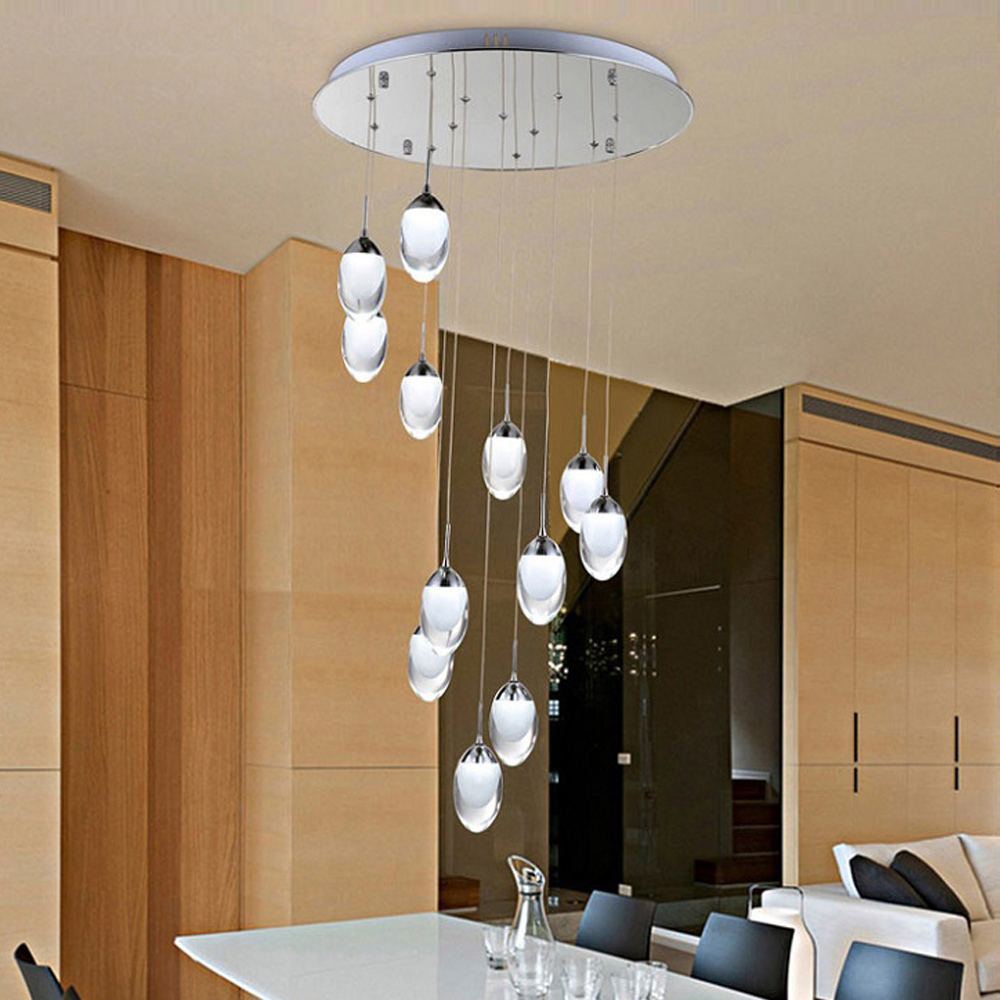 Cheap moderne spirale pendentif clairage home decor pmma - Lustre de salon moderne ...