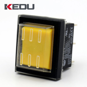 KEDU Yellow Color ON ON Boat Rocker Switch With UL TUV CE Approval HY12-9