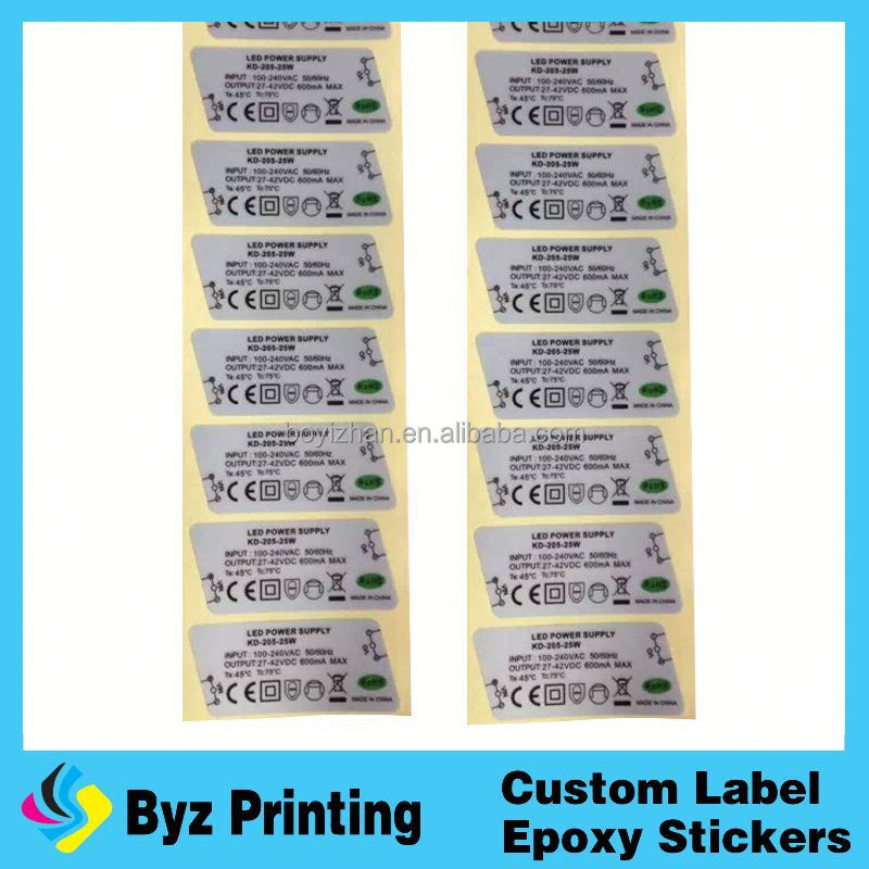 High quality soda water bottle label / two side printing label / soda water bottle sticker