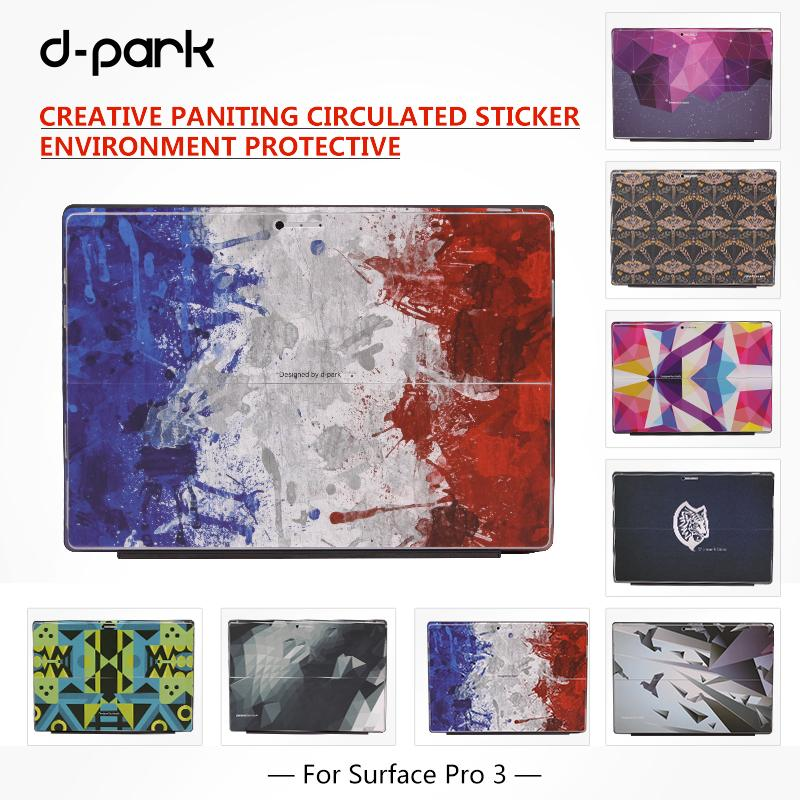 buy d park creative painting back sticker skin cover for microsoft surface pro. Black Bedroom Furniture Sets. Home Design Ideas