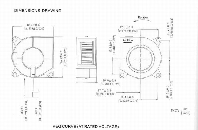 40mm X 40mm X 20mm 1 5 Inch 4020 12v Axial Blower Fan