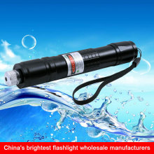 rechargeable green laser pointer led flashlight torch