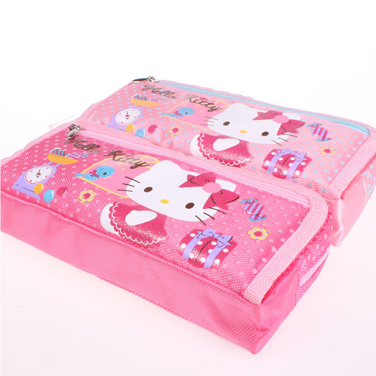 OEM fresh style stationary pen and pencil bag/case/box with cute design promotional gift items