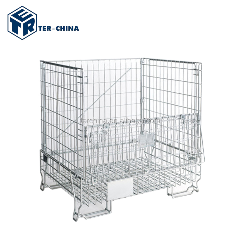 Heavy Duty Scale Stainless Steel Wire Mesh Pallet Cage