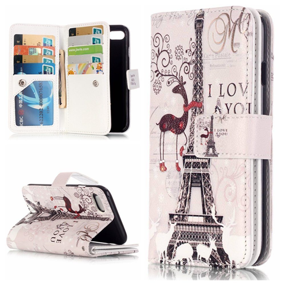 iPhone 7 Wallet Case,iPhone 7 Case,iPhone 7 Leather Wallet Case,Coddycase Flip Leather Wallet Case Protective with Card Slots Cover for iPhone 7#002