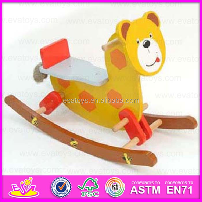 Traditional toy indoor wooden baby rocking horse WJY-8013