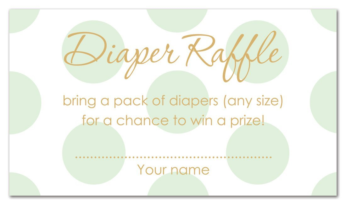 MyExpression.com 48 Polka Dots Gold Baby Shower Raffle Cards (Mint)