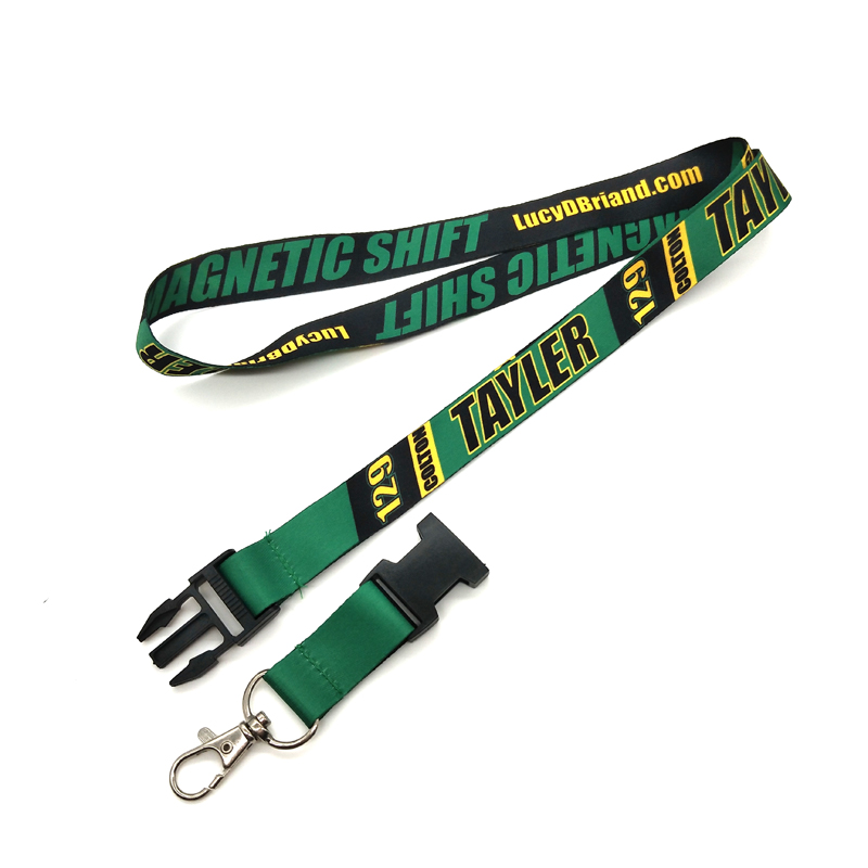 Eco Friendly Flat Polyester Heat Transfer Printed Sublimation Lanyard