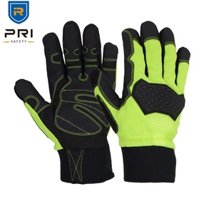 PRI TPR Hi Vis Protective Outdoor Heavy Duty Insulation Warm Leather Winter Impact 3M Gloves