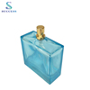 Factory Sale Crimping Sprayer Lake Blue 100ml Perfume Glass Bottle