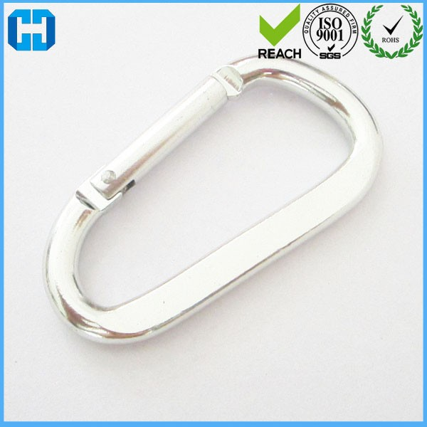Pack of 8 Mtong Metal Carabiner Clip Multi Use Camping Hooks D Clips Rings for Camping Hiking Traveling Fishing Carabiner Black Keychain Clip Hooks