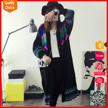 2016 autumn customized women long coat sweaters cardigan