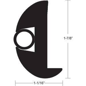 "TACO Flex Vinyl Rub Rail Kit - Black w/Black Insert - 50' - 1-7/8"""" x 1-1/16""""-By BlueTECH"
