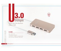 Super Speed 10Gbps Premium Aluminum Type C adapter to 4 Port USB 3.0 Hub For Macbook