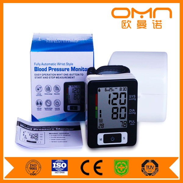 2016 Popular Household Wrist type stand rechargeable digital BPM, Automatic Electronic Blood Pressure Monitor