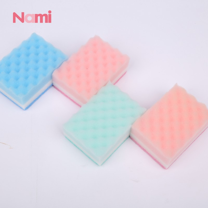 Cheap Wholesale Non Abrasive White Cleaning Sponge Dish Cloth Scouring Pads