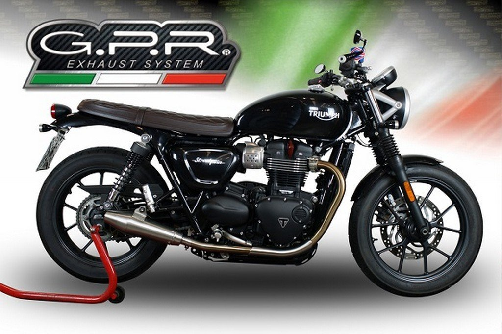 Radiant Cycles Shorty GP Exhaust for 1999-2004 Triumph Sprint ST//RS BLACK