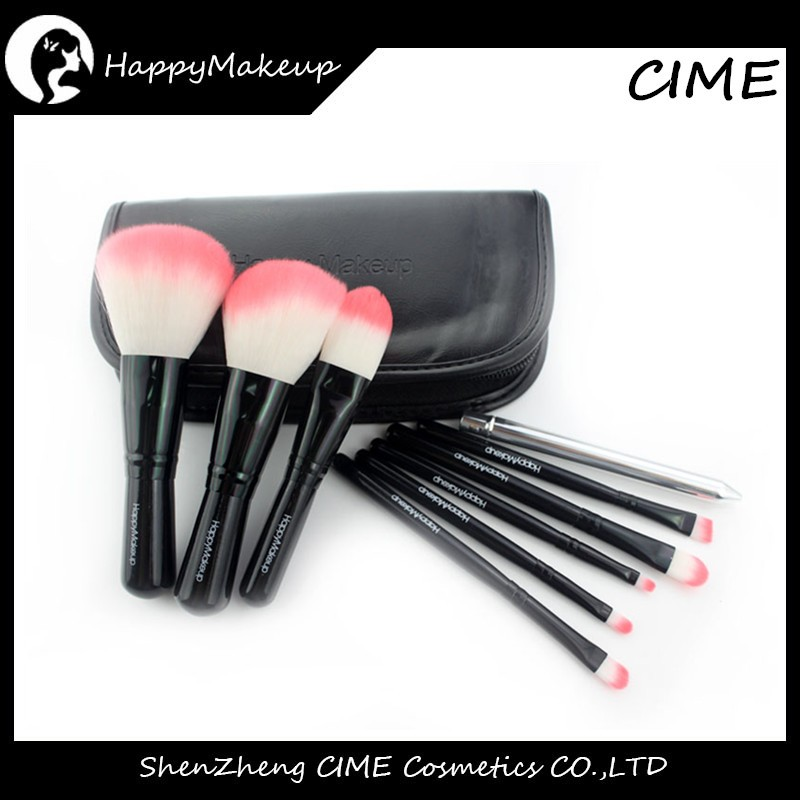 9 pcs Synthetic best affordable makeup brush set With Zipper Bag