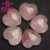 Wholesale polished rose quartz crystal carved heart gemstone heart healing pendant
