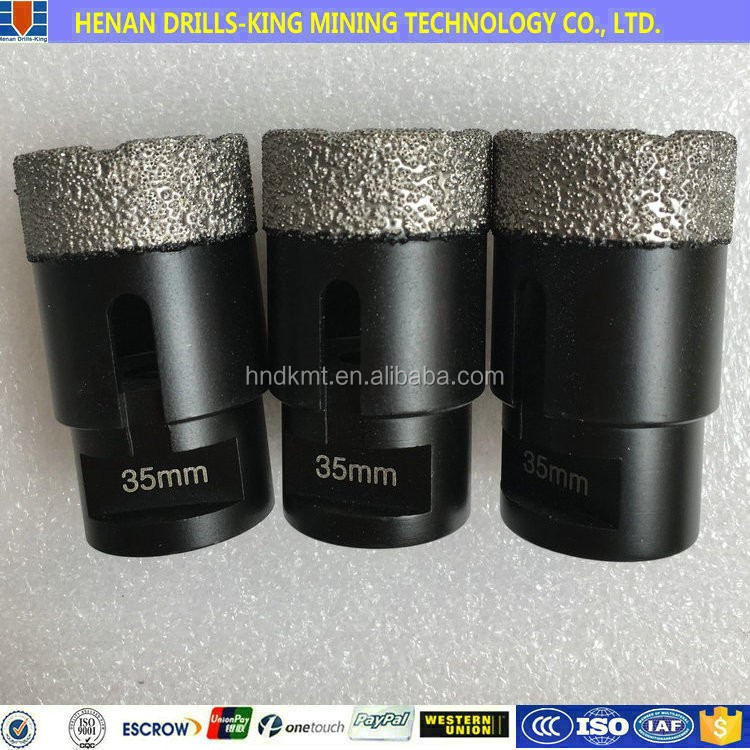 <strong>Hole</strong> saw 35mm M14 Vacuum brazed diamond core drill bit for wet drilling