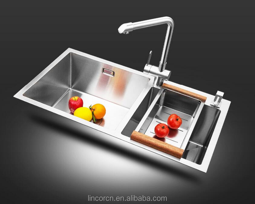 High gauge cheap price unique vegetable washing heavy duty stainless steel kitchen sink