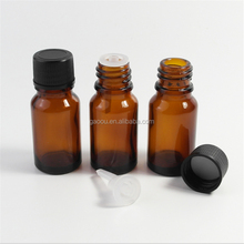 high quality glass bottle manufacture 10ml amber clear glass vial with eye dropper
