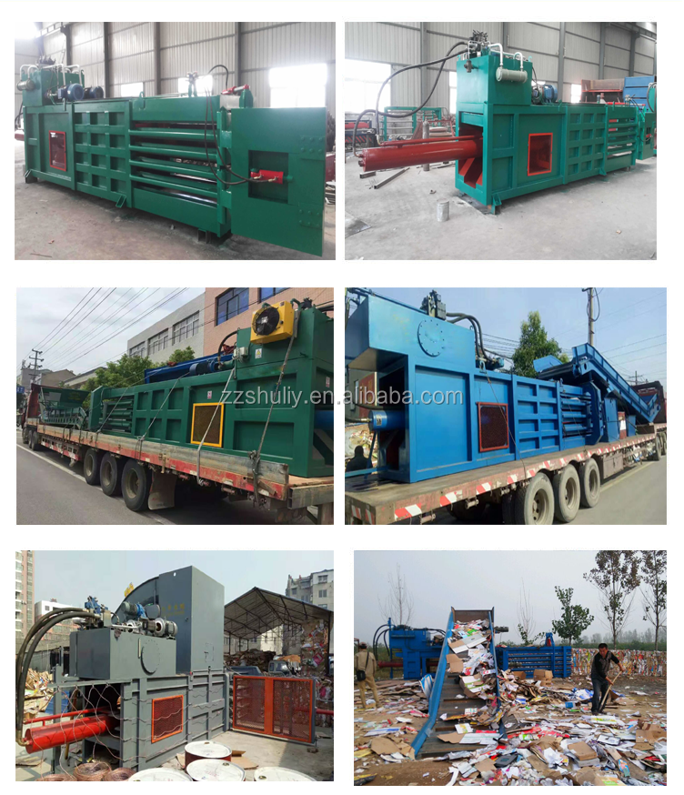 8-10 bales Plastic Baling Press Machine waste paper cardboard carton compactor baling machine baler machine