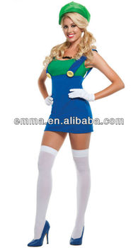 hot sales WOMENS SUPER MARIO BROS / PLUMBER LUIGI COSTUME cc288  sc 1 st  Alibaba & Hot Sales Womens Super Mario Bros / Plumber Luigi Costume Cc288 ...