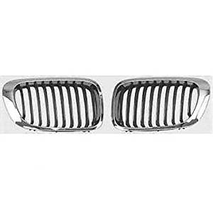 KEYSTONE 51138208686, 51138208685 BMW 3 SERIES GRILLE CHROME COUPE LEFT AND RIGHT SIDE BM1200134 + BM1200135