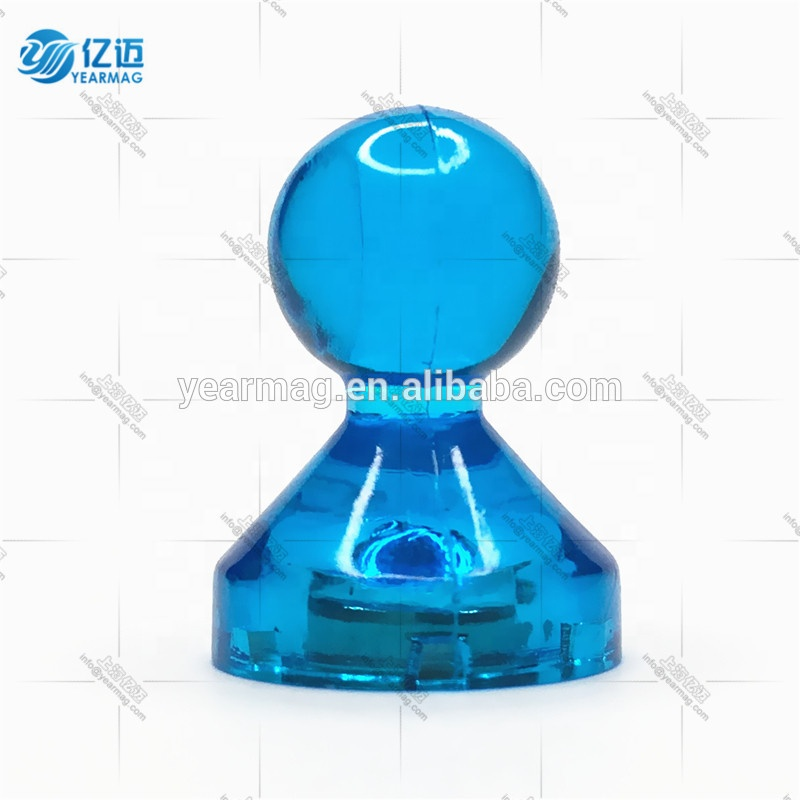 Original Factory Customize Colorful Clear Strong Permanent Magnetic Push Pin Button Magnets for Whiteboard