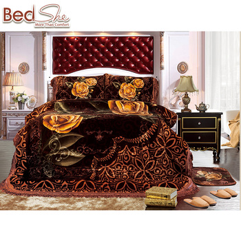 Otsukeori Luxury Wholesale Bed Cover Set Korean Style 220x240cm 3d