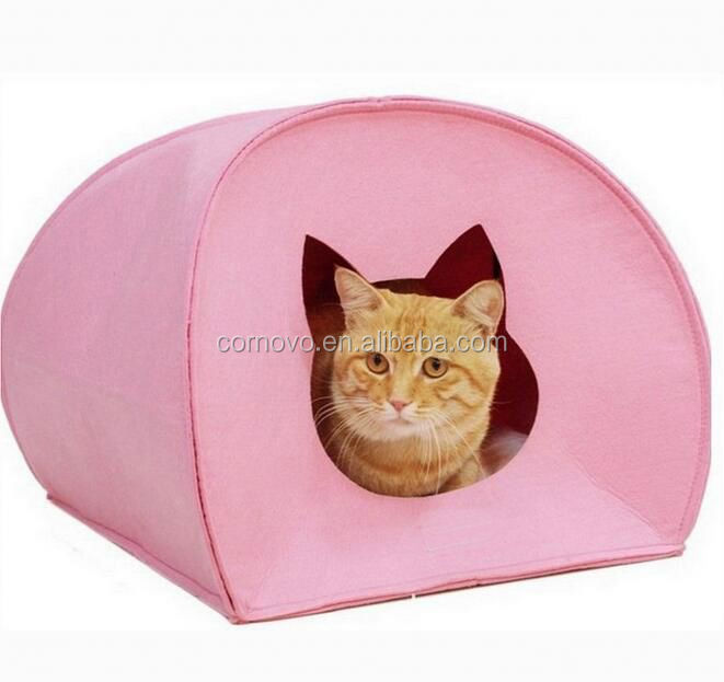 Cheapest Alibaba new pet product!! Very comfortable felt cat house for promotion