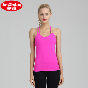 Custom Wholesale Ladies Tank Top Fitness Gym Yoga Wear KA002 Stretch Workout Yoga Active Wear