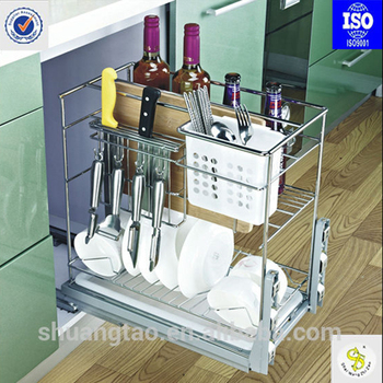 Pull Out Tube Baskets Modern Kitchen Cabinets Drawer Basket