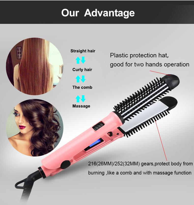 L-700 NEW design hot selling Hair-Comb-Brush hair curling comb dodo curling brush
