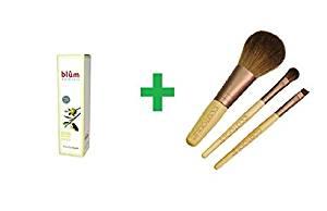 Blum Naturals, Hand Cream with Jojoba Oil, 3.38 oz (100 ml) Plus EcoTools, Mini Essential Set, 3 Pieces